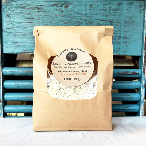 Lemongrass & Citronella All Natural Laundry Soap (Refill Bag) x 2