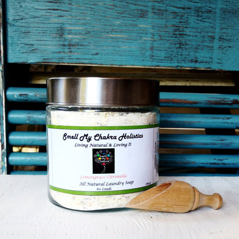 Lemongrass & Citronella All Natural Laundry Soap (Jar & Scoop)
