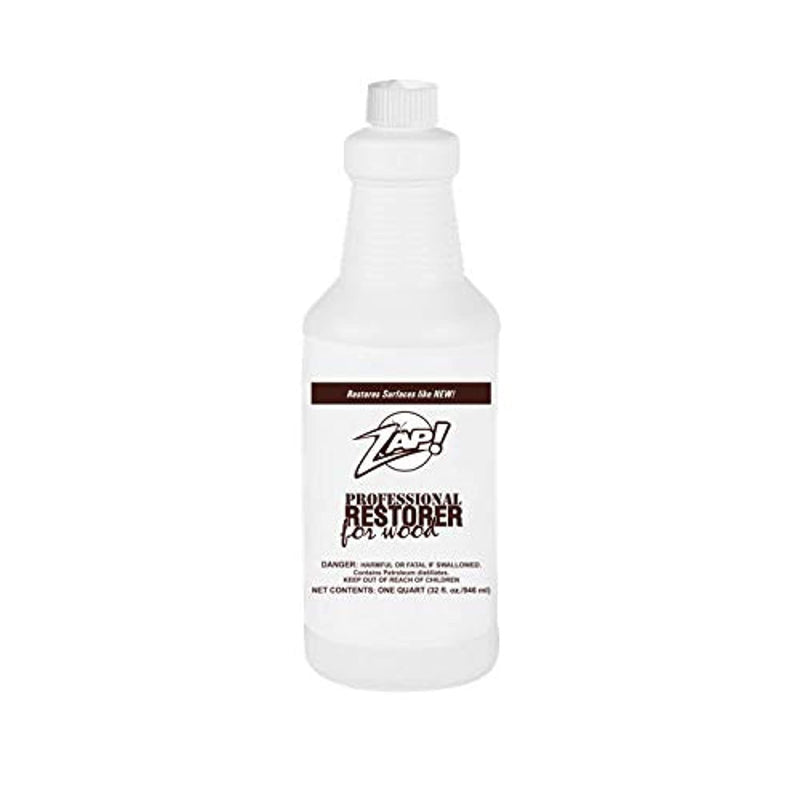 Zap Professional Wood Cleaner and Restorer - 32 oz Bottle - Clean, Polish, and Restore Wooden Furniture and Hardwood Floors - Kitchen Cabinet and Table Deep Wood Cleaner for Heavy Duty Cleaning - Red Frog Deals