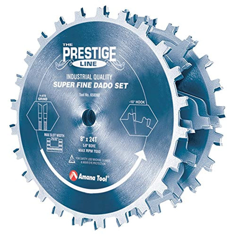 "658060C Carbide Tipped Electro-BLU Prestige Dado 8"" Dia x 24T H-ATB, 5/8 - Red Frog Deals"