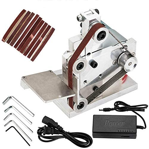 Diy Mini Belt Sander Electric Knife Apex Edge Sharpener Sanding Machine Belts Adapter Polisher Kits 7 Speed Diy Polishing Grinding Machine Power Tools Sander - Red Frog Deals