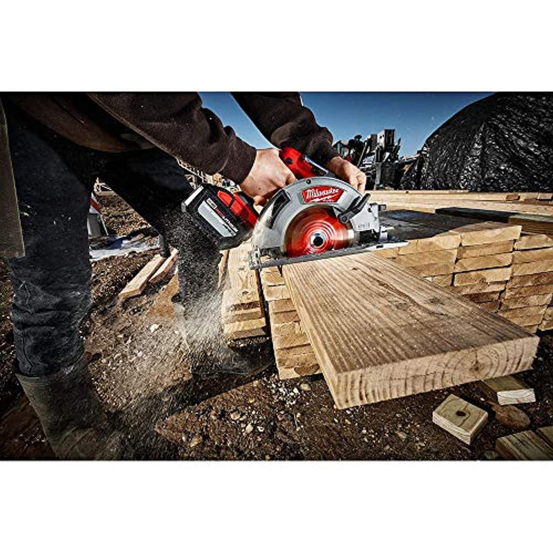 Milwaukee 2732-20 M18 Fuel 18 Volt Lithium-Ion 15 Amp 7-1/4 Inch Cordless Circular Saw (Tool Only) (Non-Retail Packaging) - Red Frog Deals
