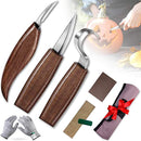 Wood Carving Tools Knife Set, JIMOTEK 9 PCS Wood Carving Kit with Carving Hook Knife, Whittling Knife, Chip Carving Knife, Suitable for Beginners, Woodworking Tools for Spoon Bowl Cup Pumpkin Carving. - Red Frog Deals