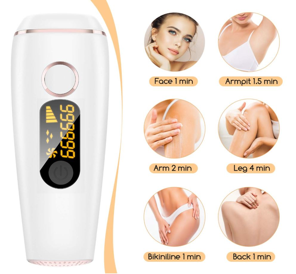 Hair Removal Device, Permanent Painless IPL Remover for bikini line, armpit, fingers, lips - Red Frog Deals