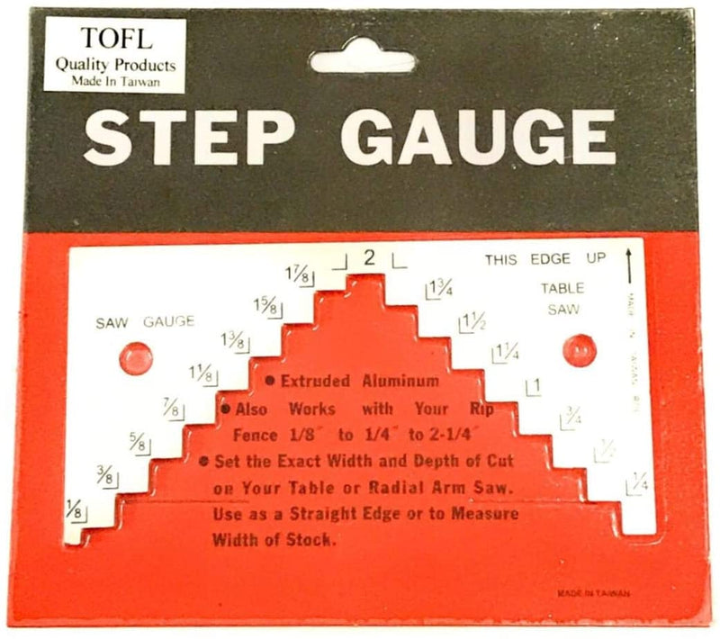 TOFL Table Saw, Circular Saw Depth Gauge - Step Gauge for Setting Height Of Your Saw Blade Tool for Woodworking Projects - Helps Make Your Saw Set Up Fast and Easy - Get Accurate Cuts - Red Frog Deals