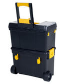 Heavy Duty Rolling Toolbox with Foldable Comfort Handle & Removable Top Storage