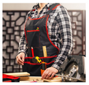 NoCry Professional Canvas Work Apron - with 16 Tool Pockets, Fully Adjustable