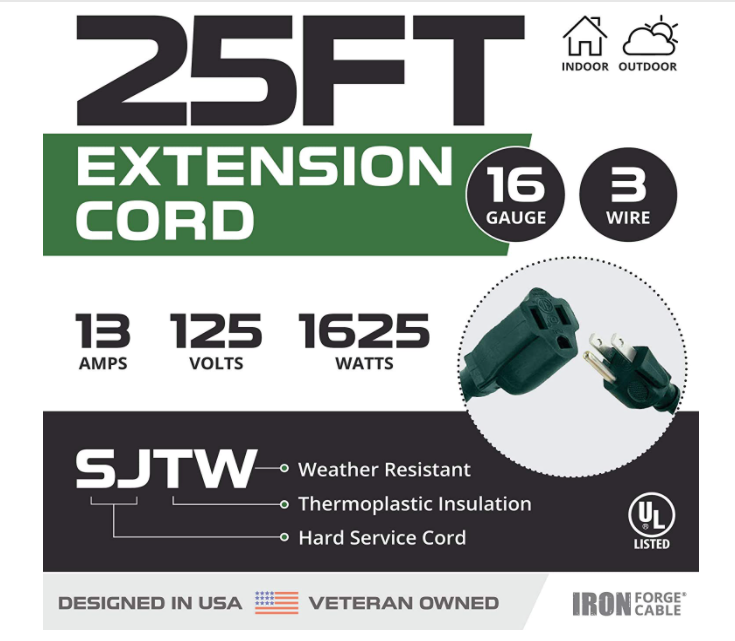 Durable Outdoor Extension Cord