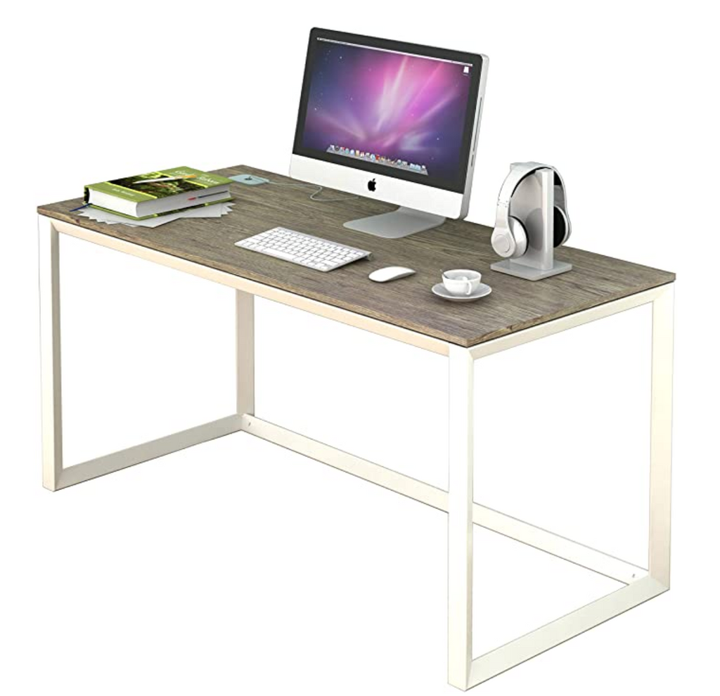 "Computer Desk for Home Office Work, Modern 47.8"" Inch, Fits Large Gaming PC - Red Frog Deals"