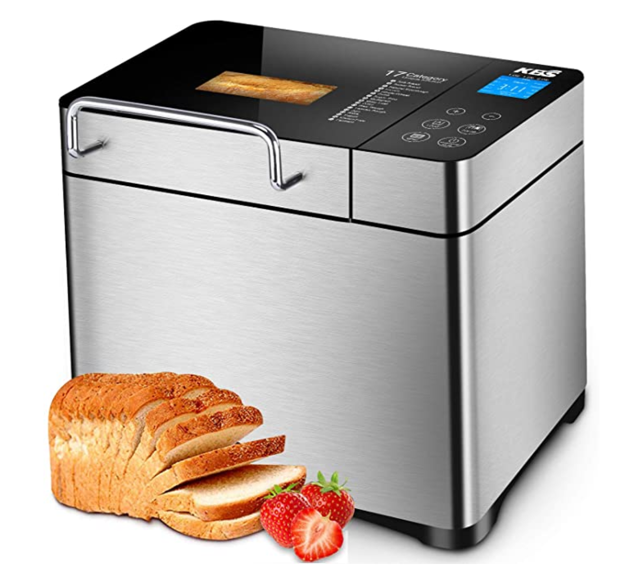 *NEW* Bread Machine Maker Kit on Sale, 2LB 17-in-1 Programmable XL w/ Fruit Nut