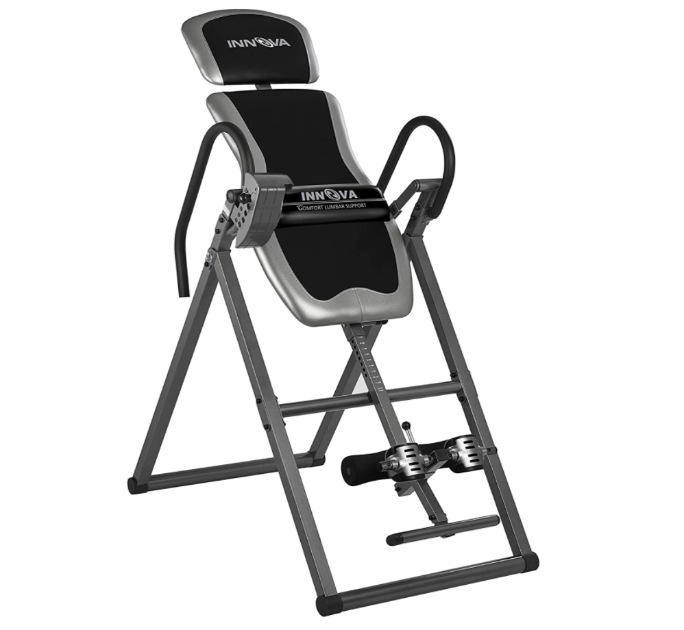Inversion Table w/Lumbar Support for Posture, Back, Sciatica Pain, 300lbs 7ft Upside Down