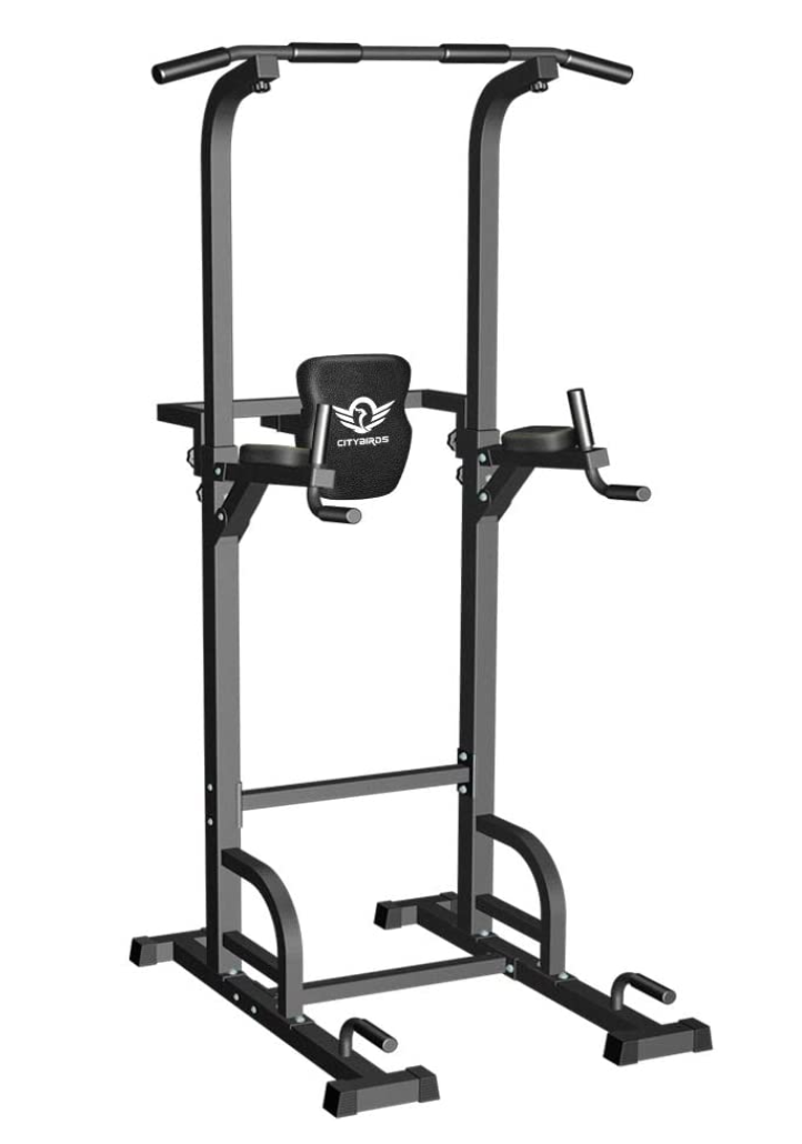 Pull Up Bar for Home Gym Strength Training Workout Equipment, Dip Station 400LBS.