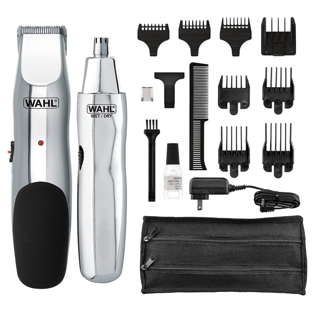 Rechargeable Beard, Mustache, Hair & Nose Hair Trimmer Shaver for Grooming (Wahl) - Red Frog Deals
