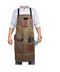 One Size Fits Utility Apron-Adjustable Cross-Back Straps With Tool Pockets
