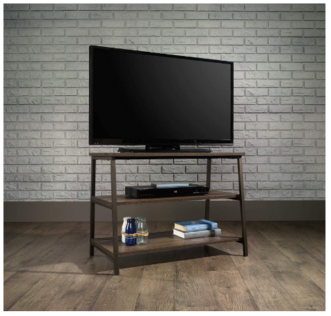 "Beautiful Sturdy Smoked Oak Stand For TVs up to 36"" - Red Frog Deals"