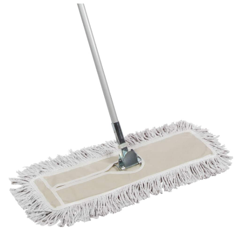 24 Inch Cotton Wide Dust Mop Metal Telescopic Handle - Red Frog Deals