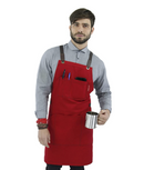 Under NY Sky Essential – Cross-Back with Durable Twill and Leather Reinforcement – Adjustable for Men and Women – Pro Chef, Tattoo Artist, Baker, Barista, Bartender, Server Aprons - Red Frog Deals