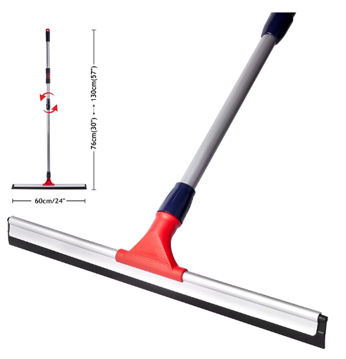 Standard Professional Telescopic Stainless Aluminum Floor Scrubber Squeegee - Red Frog Deals