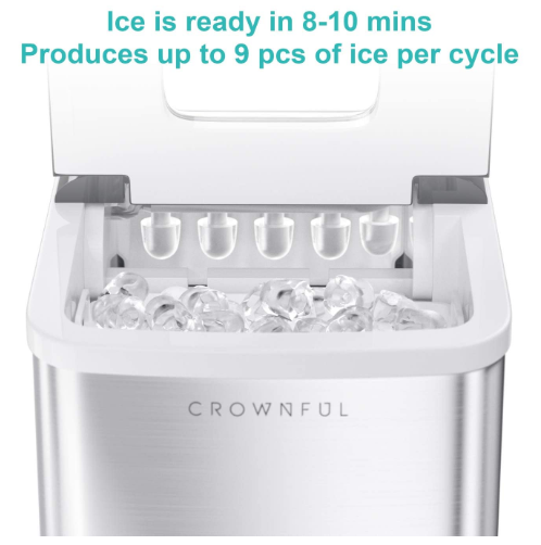 Ice Maker Machine for Countertop Electric Ice Maker Ready in 8 minutes - Red Frog Deals