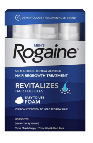 Men Topical 5% Minoxidil Foam for Hair Loss Regrowth - Red Frog Deals