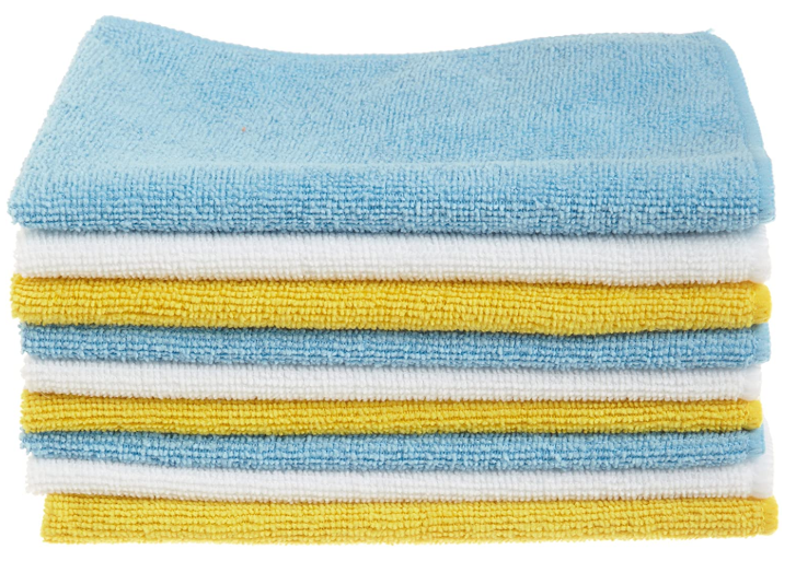 Blue White Yellow Microfiber Cleaning Cloths - Red Frog Deals