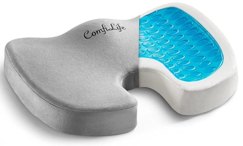 Gel Enhanced Seat Cushion NonSlip Orthopedic Gel Memory Foam
