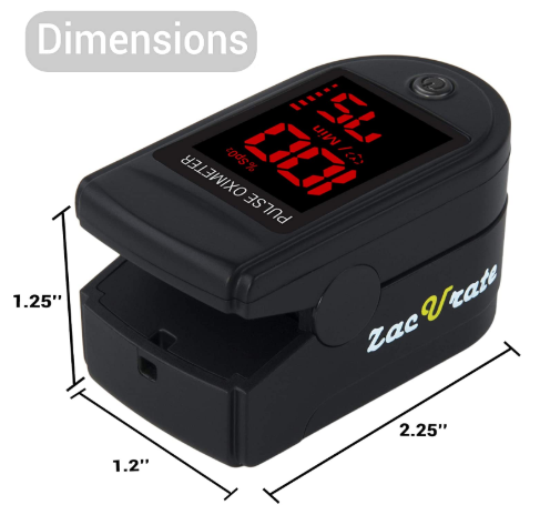 Fingertip Pulse Oximeter Blood Oxygen Saturation Monitor with Silicon Cover - Red Frog Deals