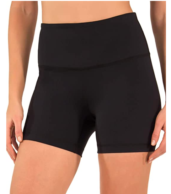 Black and Charcoal High Waist Workout Yoga Shorts 2 Pack Workout - Red Frog Deals