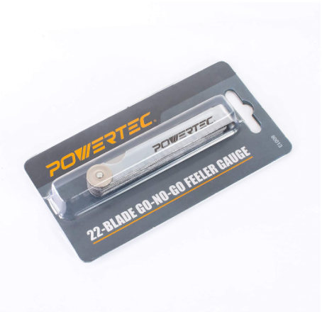 POWERTEC 80013 22 Blade Go-No-Go Feeler Gauge Set