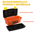 MagDurnus 12.5-inch Small Plastic Tool Box,Portable Tray Toolbox Storage