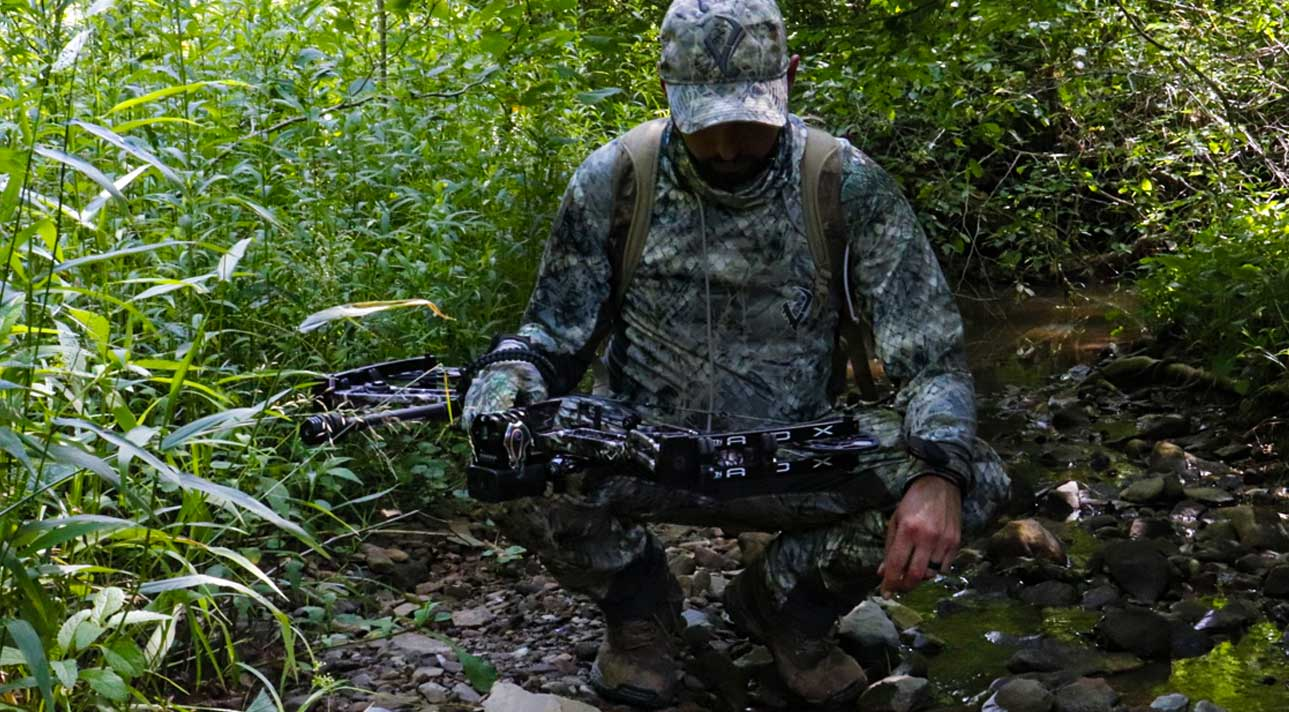 hunting gear in use