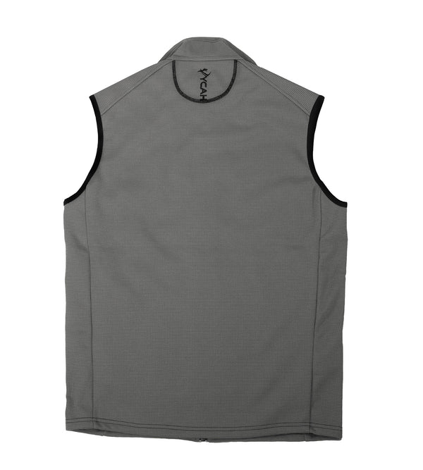 Vycah Gray Stratton Vest Back View