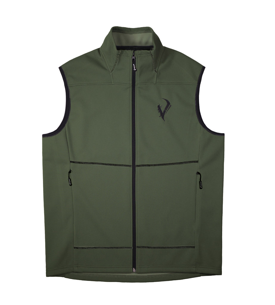 Vycah Olive Green Stratton Vest Front View
