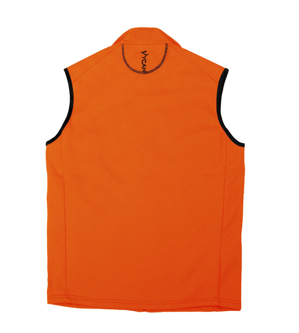 Vycah Hunter Orange Stratton Vest Back View