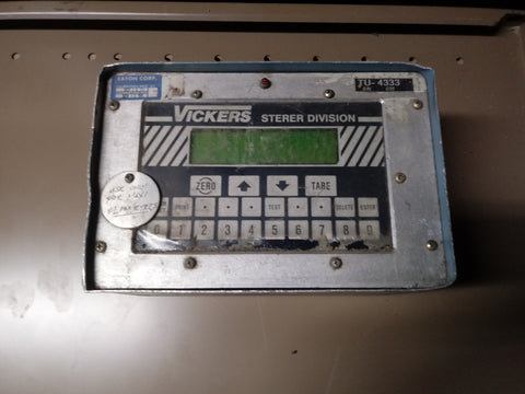 VICKERS FLOWMETER INDUSTRIAL RATE MONITOR CONTROL BOX PANEL BLUE GREY SINGLE UNIT