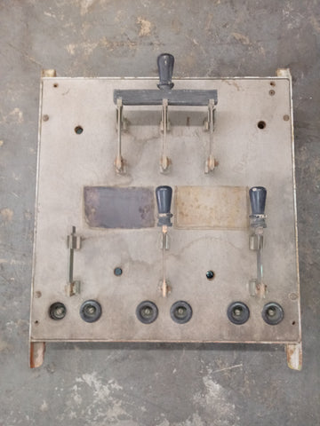 RETRO INDUSTRIAL LABORATORY FACTORY KNIFE SWITCH PANEL SINGLE UNIT