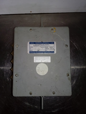 NASA SEMICONDUCTOR AEROSPACE DEVICE ROCKET SHIP DEVICE ELECTRICAL BOX PANEL GREY SINGLE UNIT