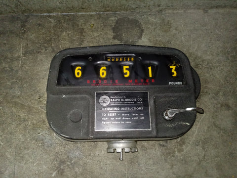 BRODIE INDUSTRIAL OPERATING METER BLACK SINGLE UNIT