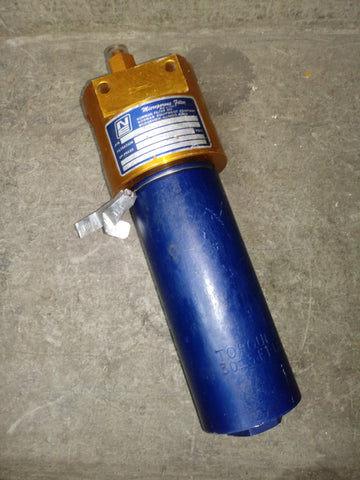NORMAN ALUMINUM HYDRAULIC INDUSTRIAL FILTER BLUE ORANGE SINGLE UNIT