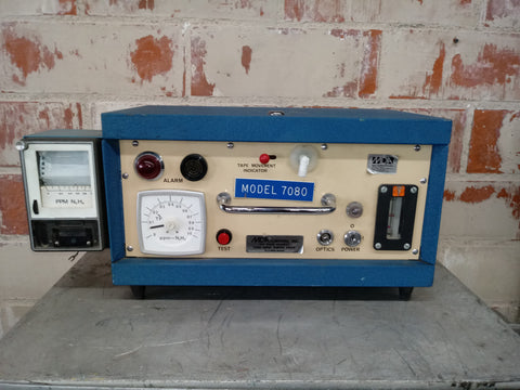 INDICATOR METER LABORATORY CONTROL BUTTON BOX PANEL BLUE SINGLE UNIT