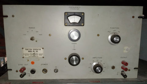 FREQUENCY FUNCTION AEROSPACE LABORATORY GENERATOR KNOB PANEL SINGLE UNIT