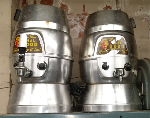 1950S INDUSTRIAL RETRO COFFEE MAKER SILVER SINGLE UNIT