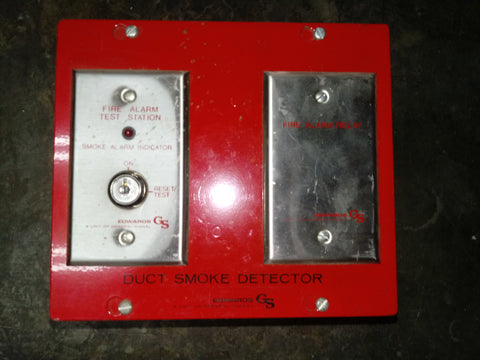 DUCT SMOKE DETECTOR FIRE ALARM RED SINGLE UNIT