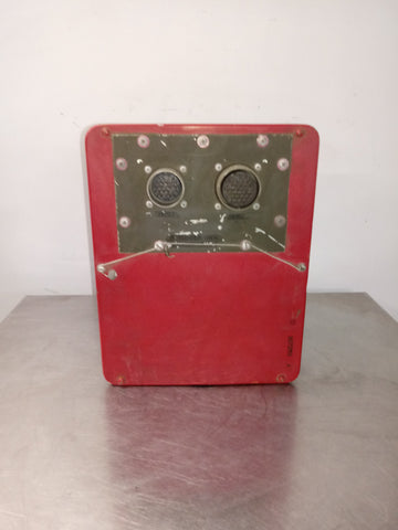 AEROSPACE AIRCRAFT AVIATION MILITARY CANNON CONNECTOR BOX RED SINGLE UNIT