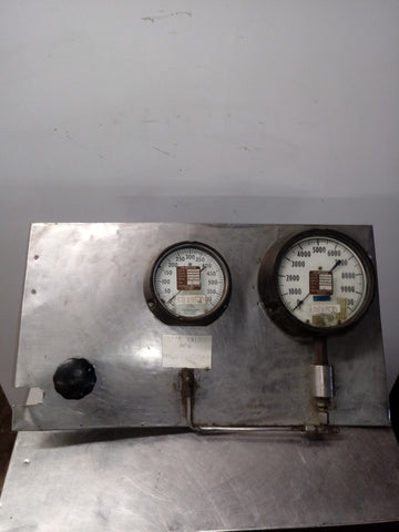 AEROSPACE STAINLESS STEEL GAUGE KNOB HYDRAULIC LABORATORY TEST PANEL SINGLE UNIT