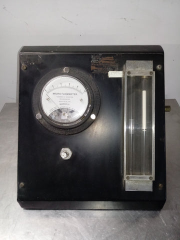 AEROSPACE LABORATORY MICRO FLOWMETER BLACK PANEL SINGLE UNIT