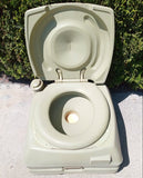 VINTAGE PORTABLE CAMP SITE TRAVEL POTTY TOILET SINGLE UNIT