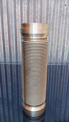 STAINLESS AEROSPACE SCI-FI SPACESHIP LIQUID OXYGEN CRYOGENIC FUEL COUPLING PIPE SINGLE UNIT