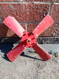 INDUSTRIAL MOTOR ENGINE TURBINE COOLING FAN 4 BLADES RED SINGLE UNIT