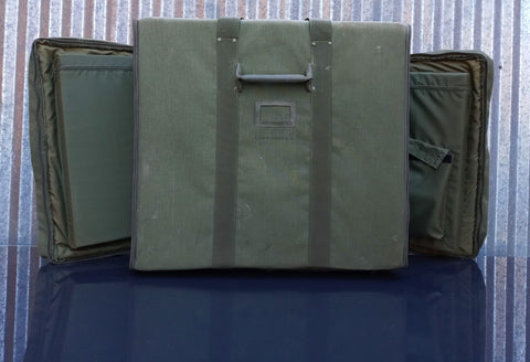 MILITARY CANVAS ZIPPER LUGGAGE BAG CASE GREEN